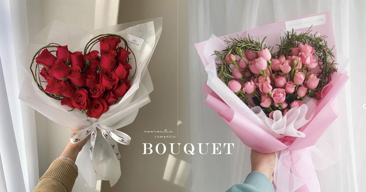 韓妞ig洗版 愛心花束 滿滿玫瑰組成 浪漫大愛心 經典花朵重新排列就美哭 Line購物
