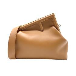 【FENDI】展示品 FENDI FIRST 中款手提肩背包(8BP127-棕)
