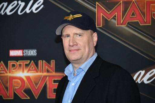 US producer Kevin Feige attends the world premiere of 'Captain Marvel' in Hollywood, California, on March 4, 2019.
