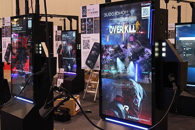 另一邊廂的電競節還有VR體驗區,可以試玩射擊遊戲。