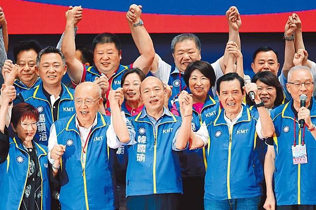 藍立院黨團表態 全力輔選韓國瑜