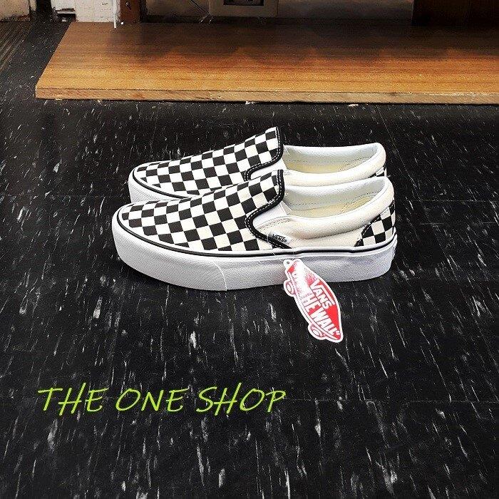 VANS Slip On Platform 厚底 棋盤格 懶人鞋 黑色 黑白 增高 帆布鞋 經典 VN00018EBWW
