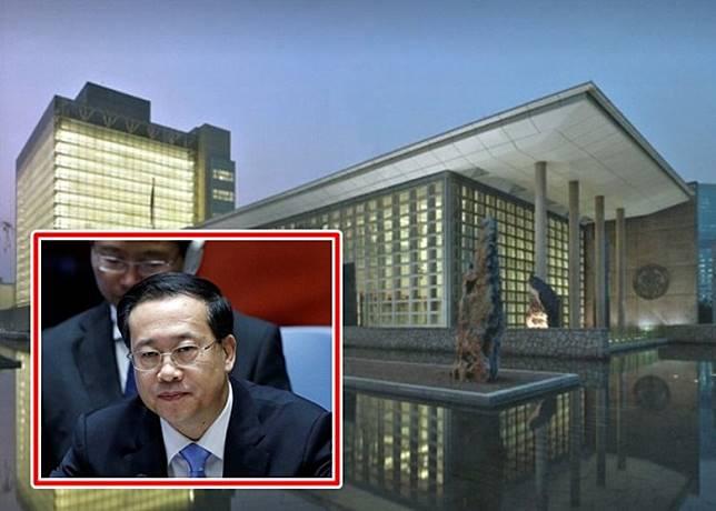 馬朝旭(小圖)召見美國駐華大使館臨時代辦。(互聯網)