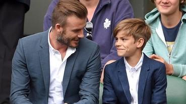 好迷人!David Beckham 和 Romeo 在溫網公開賽的可愛互動