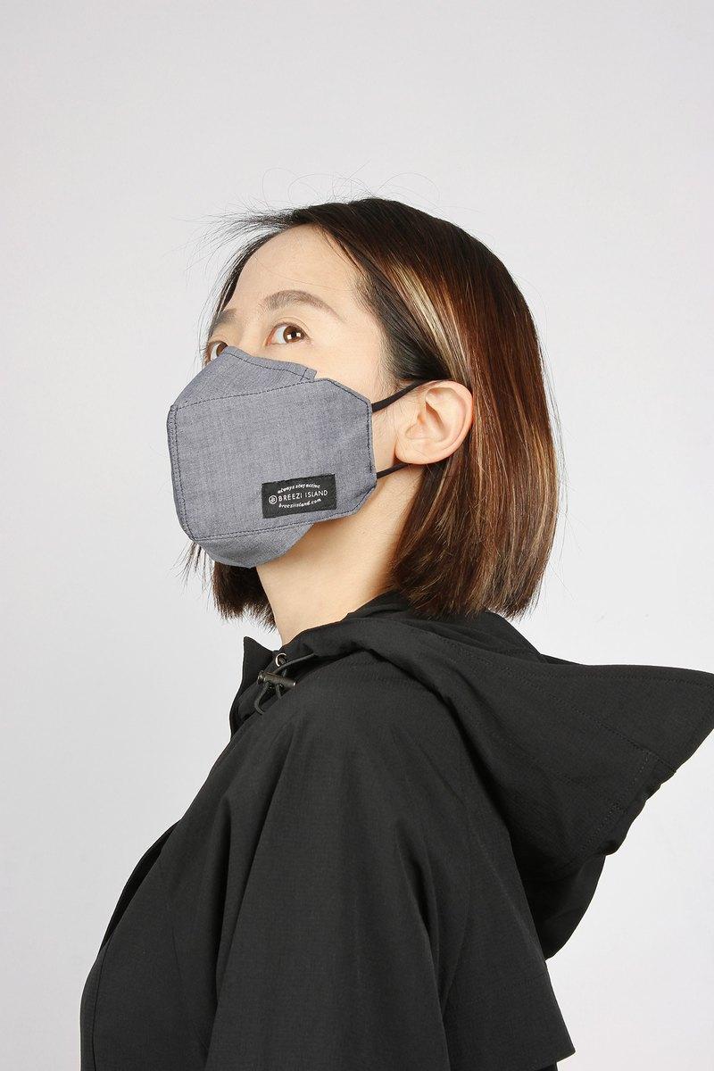 +環保可清洗 +可置入拋棄式口罩的鐵絲,完全貼合鼻梁(眼鏡族再也不怕起霧) +舒適並可調整長度的鬆緊帶(小臉女生也不怕戴起來不服貼) +3D 立體大空間(方便講話,女生口紅不易沾到) +附專屬收納夾鏈