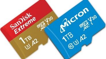 microSD 記憶卡正式進入 1TB 時代,SanDisk 與 Micron 分別推出 Extreme UHS-I 與 c200
