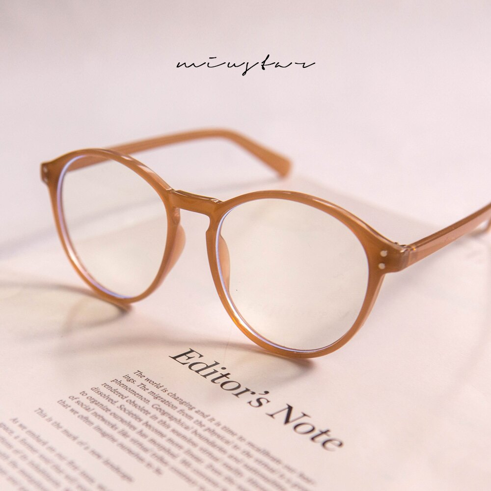MIUSTAR 奶茶人必收 茶色膠框眼鏡(共1色)0309 預購【NJ0342】