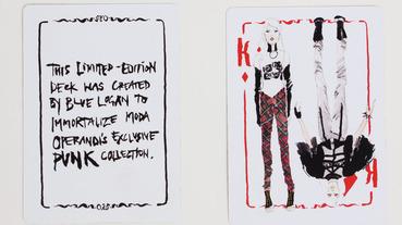 """龐克時尚 / """"PUNK: Chaos to Couture"""" 時尚插畫撲克牌 by Blue Logan"""