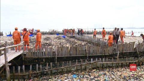 Sampah Muara Angke Mencapai 50 Ton