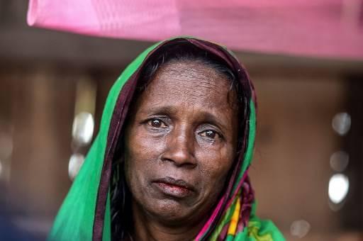 โมสัมมัต ราชิดา หม้ายชาวบังกลาเทศ ถูกสังคมรุมประนามเป็นตัวโชคร้ายที่สามีถูกเสือกัดตาย Munir UZ ZAMAN / AFP