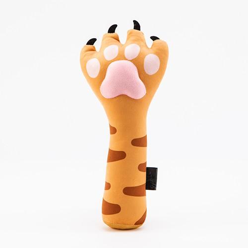 貓爪造型按摩棒槌(黃)【現貨】趣味棒槌 貓咪肉墊 貓咪肉球 療癒肉球 禮物