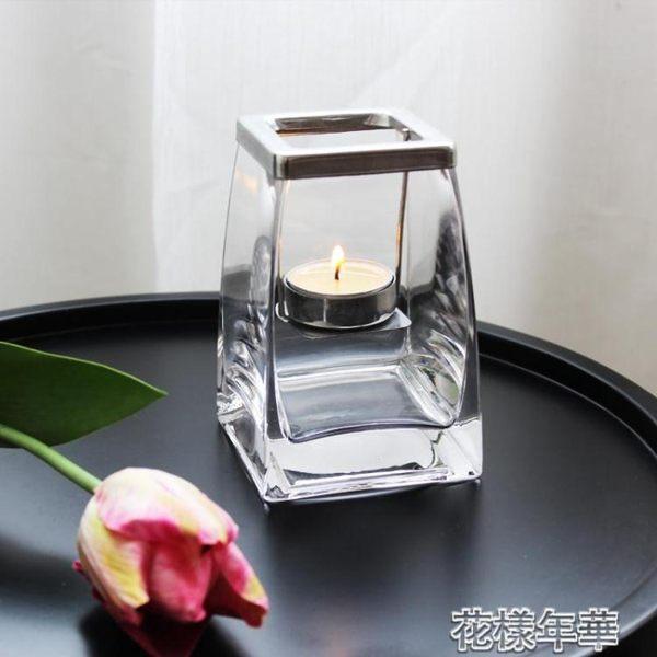 浪漫燭臺擺件 創意透明玻璃蠟燭杯 美食擺拍小道具鐵藝送蠟燭