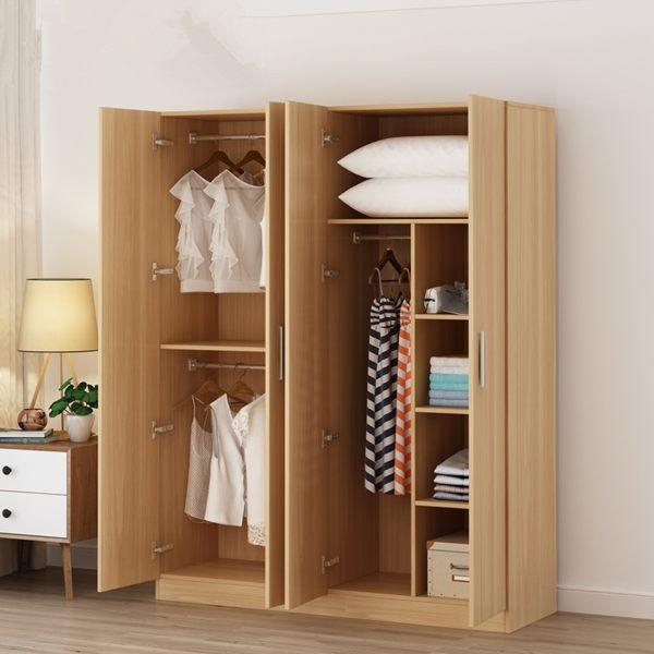限定款衣櫃 衣櫥 衣物收納經濟型免運組裝實木板式臥室整體衣櫥租房宿舍推薦簡易小櫃子jj