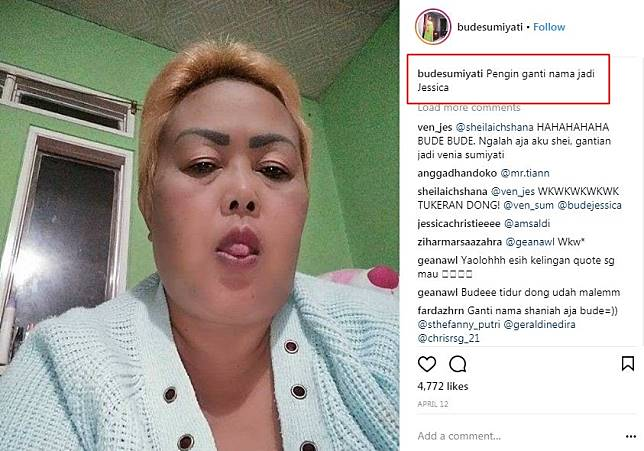 10 Caption Lucu Hanyalah Seorang Netizen Bude Sumiyati Bikin Ngakak