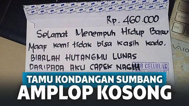 Pria Ini Sumbang Amplop Kosong Bertuliskan Rp460 Ribu