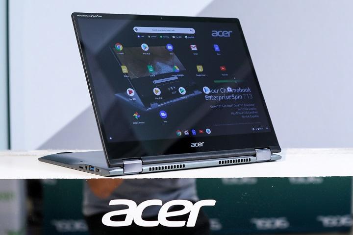 Acer Chromebook Spin 713 與 311 可翻轉設計,符合 Project Athena 驗證