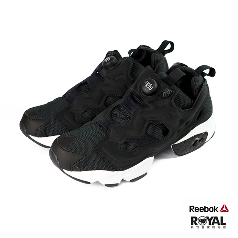Reebok Instapump 黑色 網布 休閒運動鞋 男女款 NO.B0764【新竹皇家 DV6985】