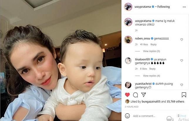 Ussy Sulistiawaty dan Sakalingga (Instagram.com)