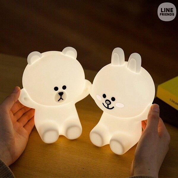 【布朗熊+可妮兔+ 莎莉】 熊大夜燈 BROWN布朗熊夜燈 熊大燈 LINE 造型觸碰小夜燈 米飛兔 賤兔 流氓兔 (現貨)