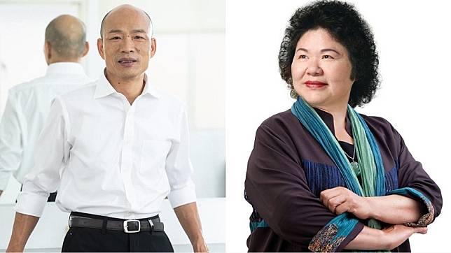 不少高雄民眾提出對韓國瑜和陳菊的想法。(圖/翻攝自韓國瑜、陳菊臉書)