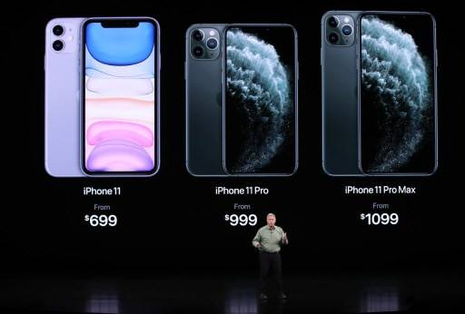 Apple's senior vice president of worldwide marketing Phil Schiller talks about the new iPhone 11 Pro during an Apple special event on September 10, 2019 in Cupertino, California. Apple is unveiling new products during a special event at the Apple headquarters in Cupertino, California.