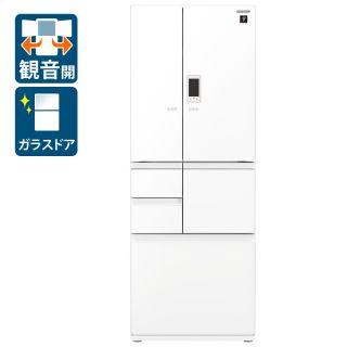 フレンチ6ドア冷蔵庫(SJ-AF50G-W)