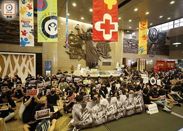 多間醫院近日有醫護人員舉行反修例集會。