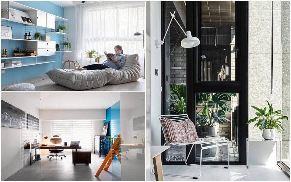 現在越來越多住家,除了在臥房內規劃書桌外,還會設計