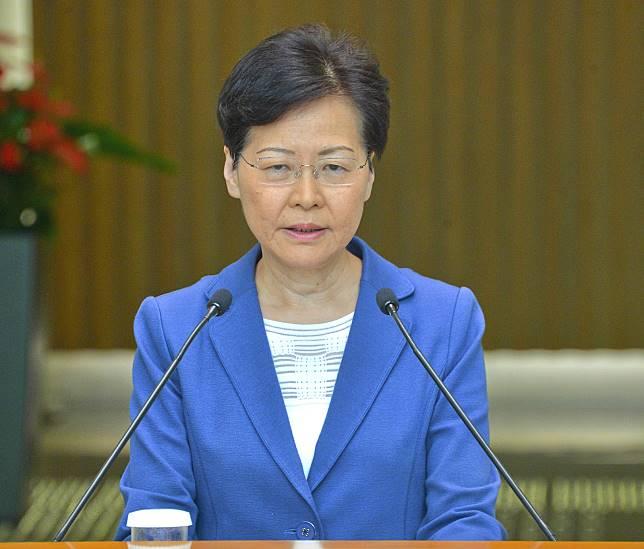 行政長官林鄭月娥。資料圖片