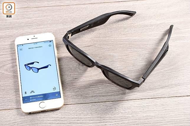 能透過手機App《Bose Connect》來為眼鏡進行更細緻的設定。(方偉堅攝)