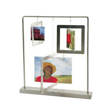 來自美國優質設計品牌UMBRA 鏡面為玻璃材質,雙面皆可呈現照片或作品 可置入4×6〞照片+3×3〞照片+2 1/4x2 1/4
