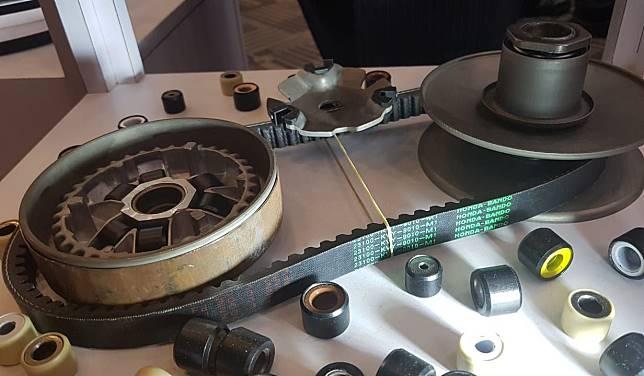 Ilustrasi komponen cvt di motor matic