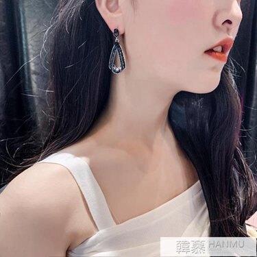 水滴耳環女宴會流行歐美風銀針復古夸張個性耳釘氣質長款耳墜2019 韓慕精品