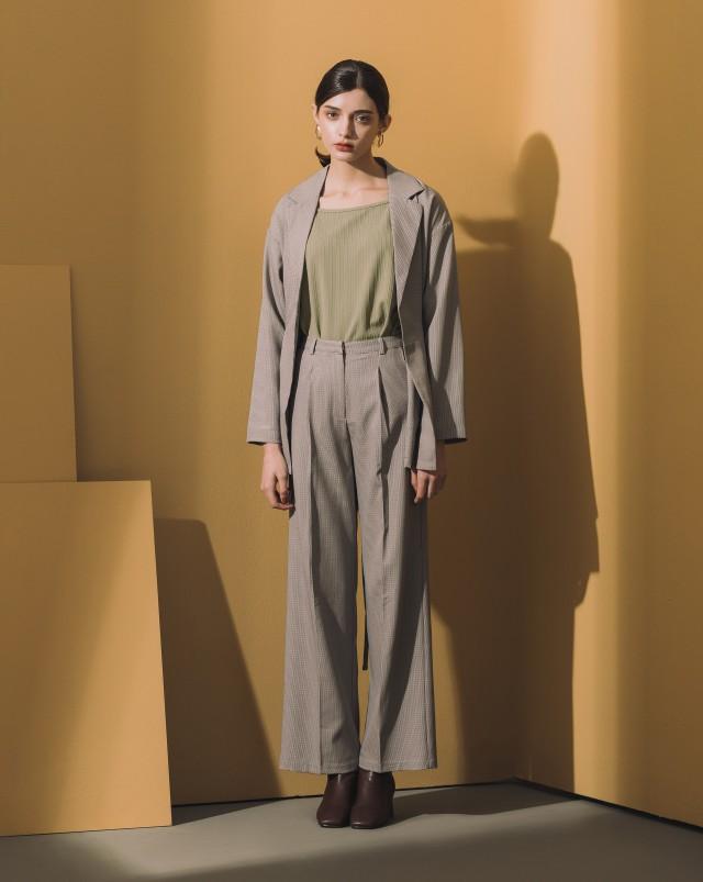 MEIERQ+時髦格紋西裝罩衫外套