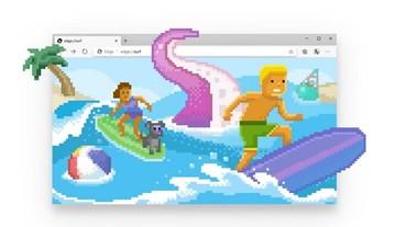 Edge瀏覽器推出內建遊戲「網路衝浪」,3種遊戲模式、支援手把、離線也能玩