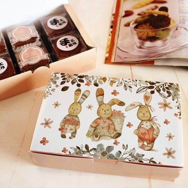 月餅包裝盒 3隻小兔*5個 可放入50g6入月餅 想購了超級小物