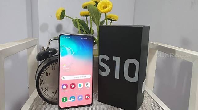 Samsung Galaxy S10. [Suara.com/Lintang Siltya Utami]