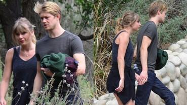 泰勒絲罕見與男友喬艾文合體現身 甜蜜情侶檔大自然中健行約會!