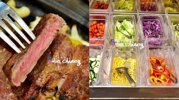【台中美食】最經典的牛排套餐,銀牛角牛排館,沙拉吧吃到飽,濃湯沙拉通通有。