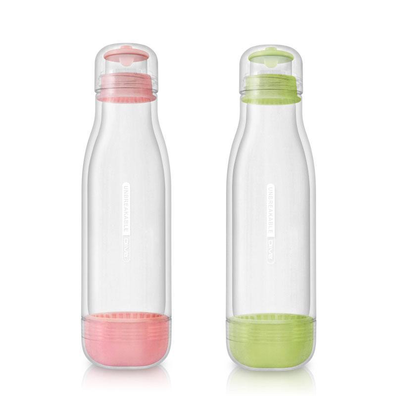 防撞玻璃水瓶500ml (兩入) 粉綠+粉紅