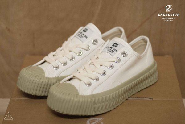 ISNEAKERS EXCELSIOR 餅乾鞋 抹茶綠 鼠尾草 白厚底帆布鞋 CF_M6018CV_WS 女鞋 韓國限定