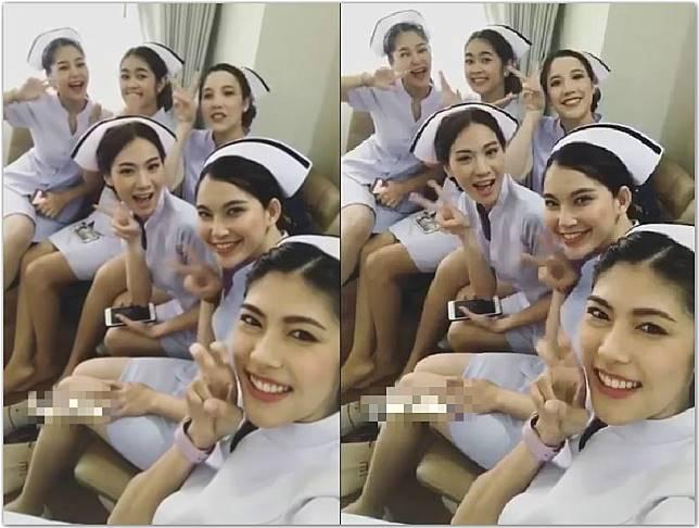 ▲泰國清邁當地一家醫院的女護理師們超高顏值引發熱議。(圖/翻攝自臉書)
