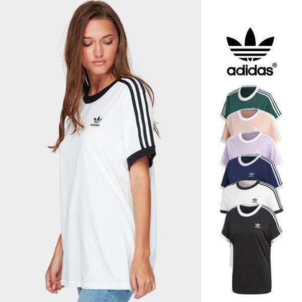 【GT】Adidas Originals 黑白藍紫粉綠 短袖T恤 女款 純棉 運動 休閒 上衣 短T 愛迪達 基本款 三葉草 Logo