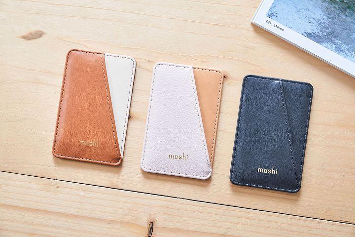 Moshi 針對台灣直營門市活動推出限量、只送不賣的 SnapTo Vegan 皮革磁吸卡夾,共有三種款式。