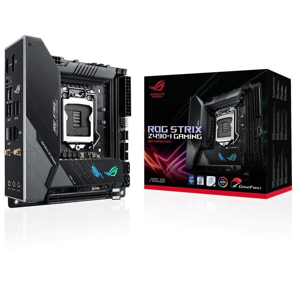 Intel® Z490 LGA 1200 mini-ITX 電競主機板配備 10 個功率級、DDR4 4800、AI 超頻、AI 散熱、AI 網路、WiFi 6 (802.11ax)、Intel® 2