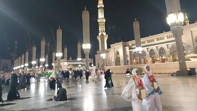 Jemaah haji di Masjid Nabawi, Madinah. Nurmayanti/Liputan6.com