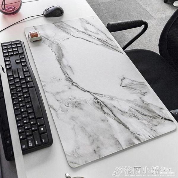 北歐ins辦公室桌墊 大理石紋鼠標墊超大加厚護腕筆記本電腦鍵盤墊
