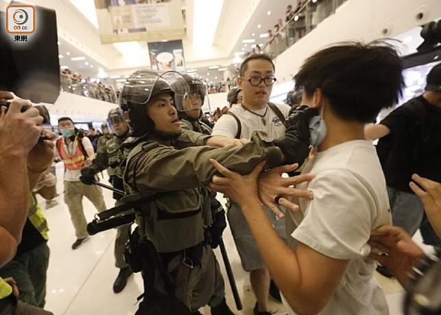 沙田新城市廣場日前爆發混戰。