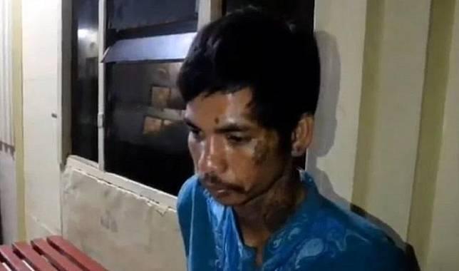 Asri alias Ca'di, residivis curanmor di Makassar, Sulsel ditangkap polisi. (Foto: iNews/Muhammad Nur Bone)