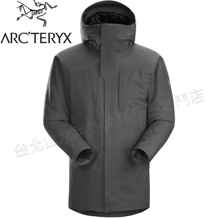 Arcteryx 始祖鳥 Therme 雪衣/防水大衣/羽絨衣/出國旅遊 男GTX羽絨/化纖複合12888 機長灰